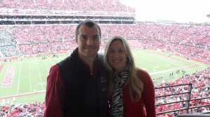 Kristi with her boyfriend, Chadd Scott, at University of Louisville 10-1-11