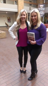 Kristi with Courtney King at Fox 6 in Milwaukee