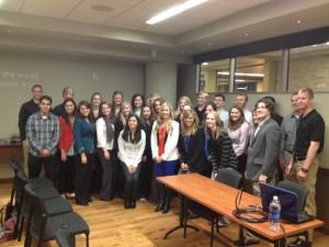 Kristi with students from University of Wisconsin's Sports Business Club