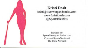 SportsBizMiss business card